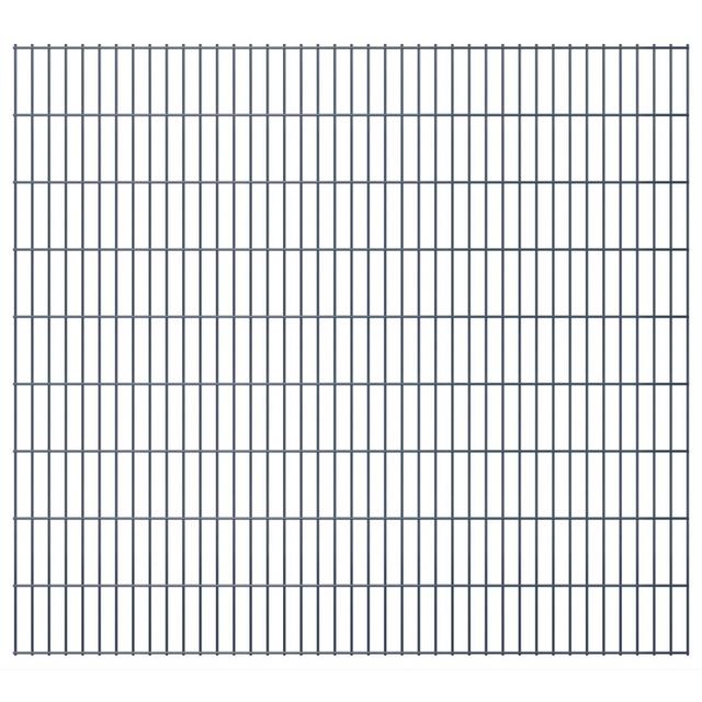Vidaxl Panneaux de clôture 2D pour jardin 2008 x 1830 mm 46 m Gris