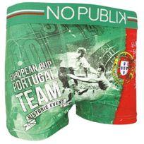 No Publik - Boxer Homme Microfibre Portugal Vert
