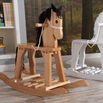 Kidkraft - Cheval à bascule en bois avec poignées Derby