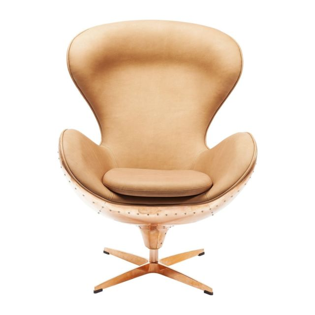 Karedesign Fauteuil pivotant Big Boss cuivre Kare Design