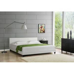 envie de meubles lit elise 140x190 cm simili cuir blanc pas cher achat vente structures. Black Bedroom Furniture Sets. Home Design Ideas
