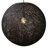 Comforium - Suspension boule abaca 60 cm coloris noir