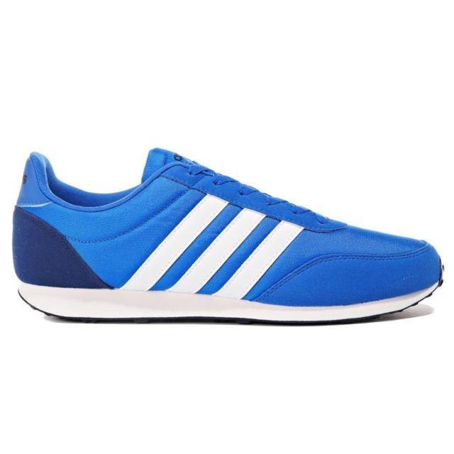 best service bd61f 43801 Adidas - V Racer 20 Bleu - pas cher Achat  Vente Baskets homme -  RueDuCommerce