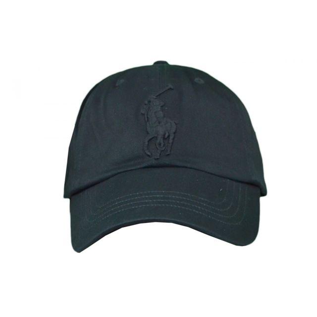 8d6a715b1df2 Ralph Lauren - Casquette Big Poney noire pour homme Taille unique - pas cher  Achat   Vente Casquettes, bonnets, chapeaux - RueDuCommerce