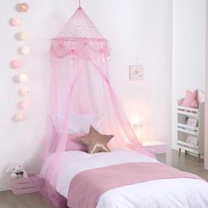 touslescadeaux ciel de lit fille princesse rose avec. Black Bedroom Furniture Sets. Home Design Ideas