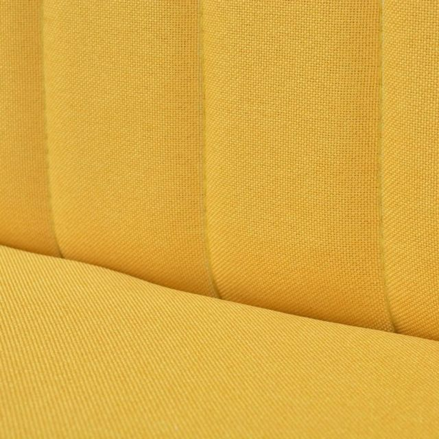 ICAVERNE Canapés famille Canapé 117 x 55,5 x 77 cm Tissu Jaune
