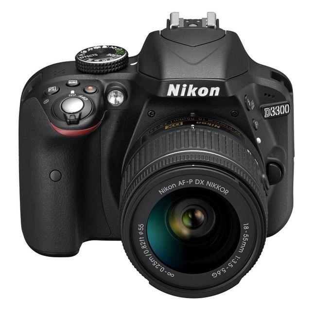 NIKON APN Réflex D3300 18-55 DX AF-P - VBA390K010