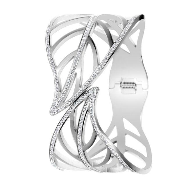 Sc Crystal Bracelet feuille par orné de cristaux de Bohème