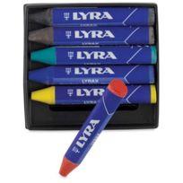 Lyra - Pochette De 6 Craies À La Cire Geantes Lyrax - Couleur Assorties