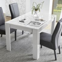 Table Design Blanc Laqué Extensible 137 Nino Cm O0wknP