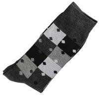 Marque Generique - Modebas.fr - Pack de 2 Paires Chaussettes Homme Classique Puzzle Coton Gris Anthracite 43-45 - Gris anthracite
