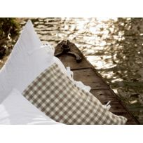 Sylvie Thiriez - Taie d'oreiller percale en coton tissé teint 50x70 cm Amourette par Syvie Thiriez