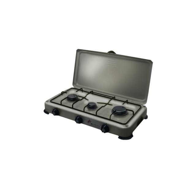 igi plaque de cuisson gaz portable 3 feux 4100 w silver. Black Bedroom Furniture Sets. Home Design Ideas