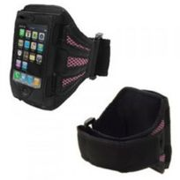 Coquediscount - Brassard noir et rose iPhone 3G/3GS 4/4S