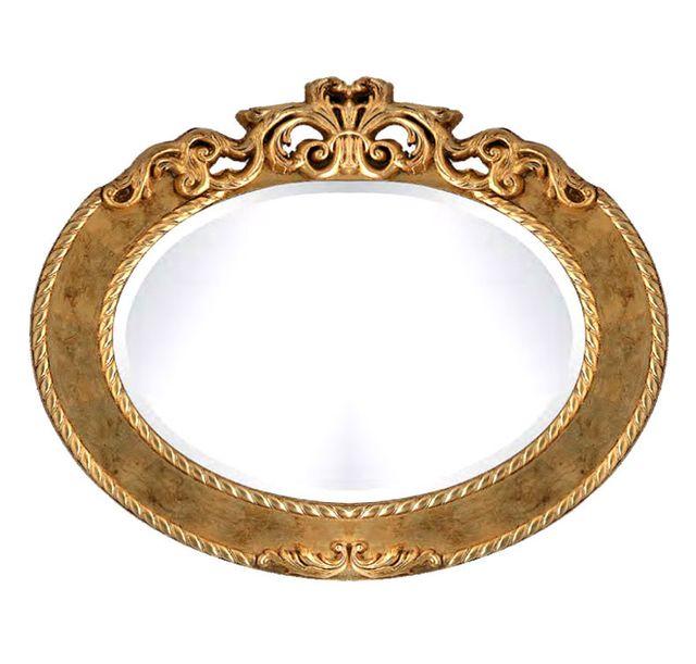 Artigiani Veneti Riuniti Miroir ovale en feuille d'or ou d'argent
