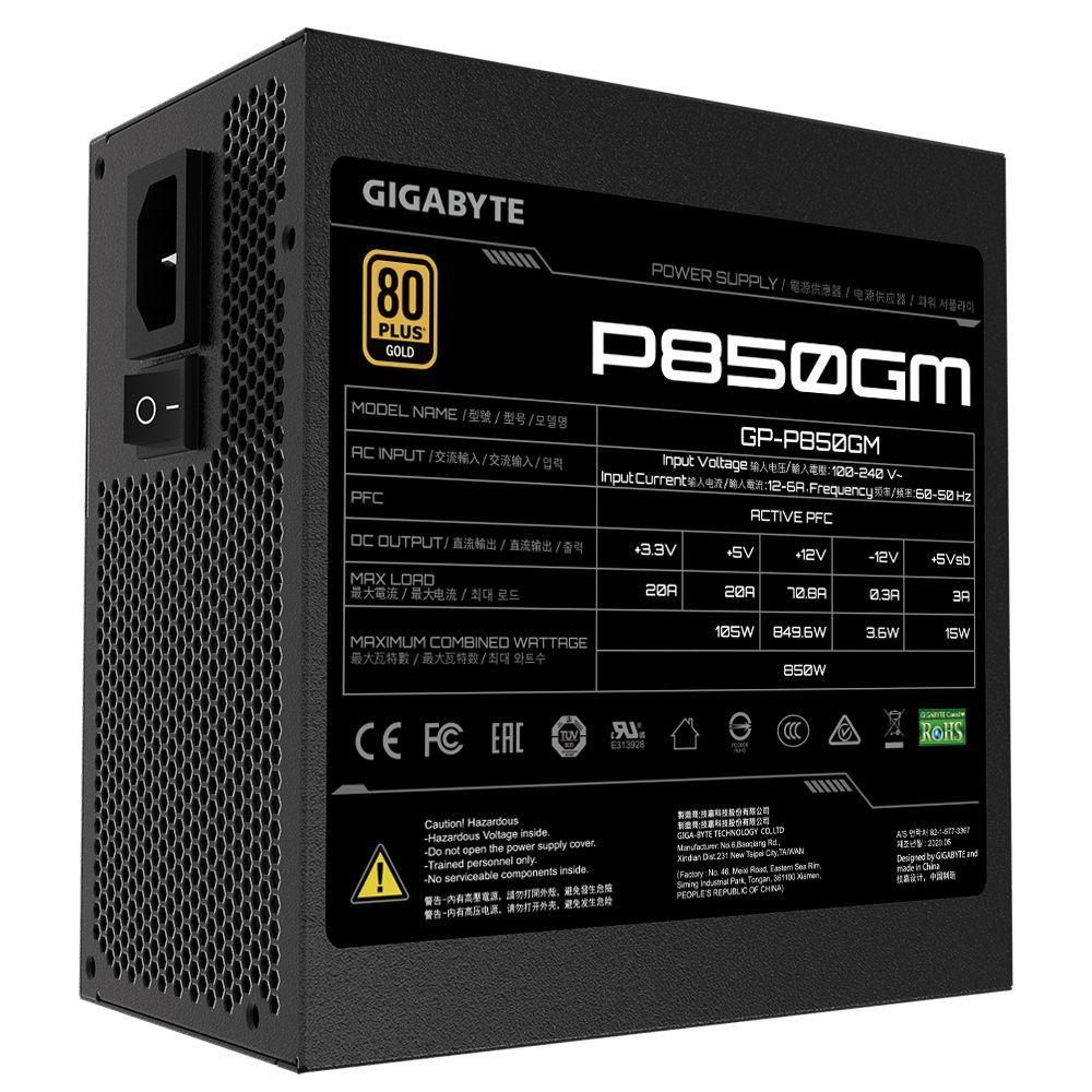 Bloc d'alimentation GP-P850GM 850 W 80 Plus Gold Gigabyte
