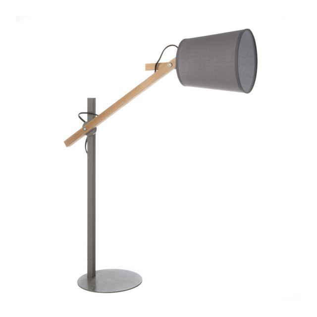 Atmosphera Lampe architecte gris 65cm