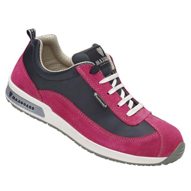 3a611e28b0a39 Maxguard - Chaussures de sécurité femme Dolly S1 Src Esd Rose - pas cher  Achat   Vente Baskets homme - RueDuCommerce