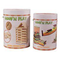 WOOD N PLAY - Lot jeu de Construction Planchettes de bois