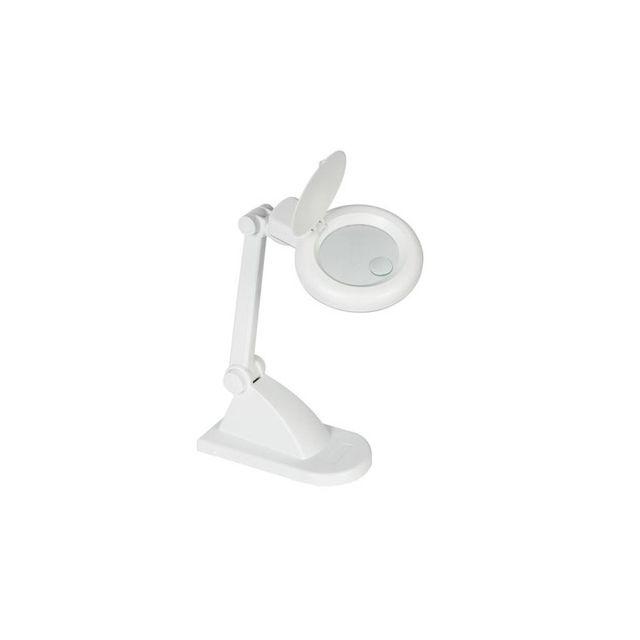 Perel Lampe-loupe 3 + 12 dioptries - 12w - blanc source lumineuse: lampe fluorescente ronde de 12 W interrupteur marche/arrêt socle de table dioptries: 3 + 12 ( magnification 1.75x + 4.0x) livrée avec ballast électronique dioptrie: 3 + 12 ( magnification