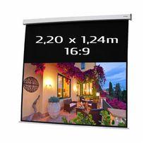 Kimex - Ecran de projection électrique 2,20 x 1,24m, format 16:9