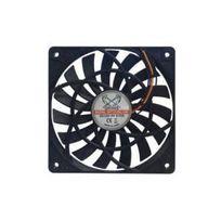 Scythe - Ventilateur Slip Stream Slim Sy1212SL12H noir, connecteur 3 broches, Retail 37 dB 78 m³ / h 45,9 cfm