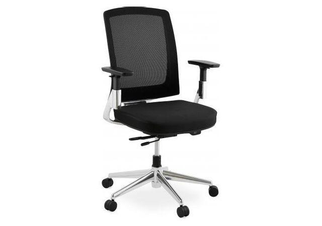 Kokoon Design Chaise de bureau noire 65x68x111 cm Belia