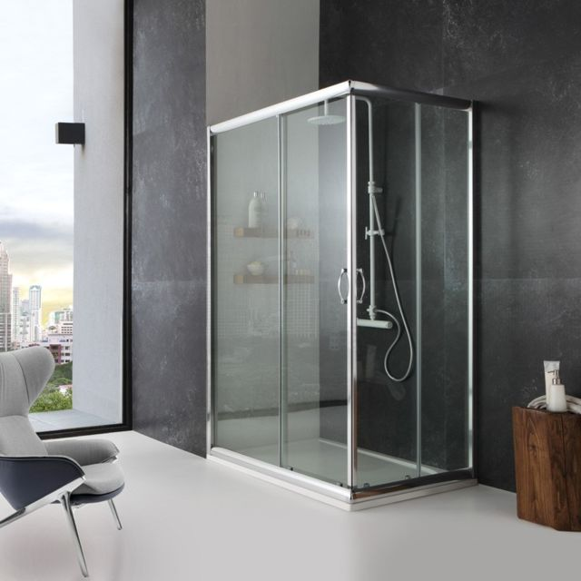 kiamami valentina cabine de douche mod le giada 80x100 verre transparent pas cher achat. Black Bedroom Furniture Sets. Home Design Ideas