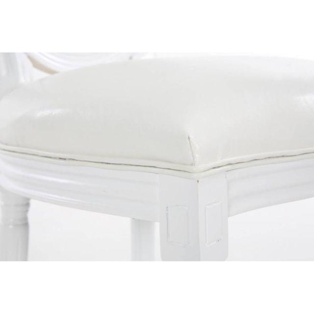 Lot de 2 chaises médaillon Versailles style louis Xvi polyuréthane blanc