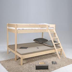 no name lit superpos triolo 90 140x190 cm vernis. Black Bedroom Furniture Sets. Home Design Ideas