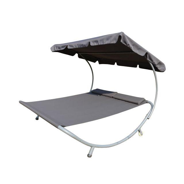 Homcom - Bain De Soleil Transat Chaise Longue Lit De Jardin Avec ...