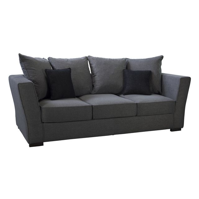 mathilde et pauline canap en tissu trait non feu avec coussins volta gris sebpeche31. Black Bedroom Furniture Sets. Home Design Ideas