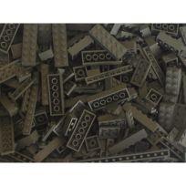 Q Bricks - Briques en vrac Qbricks Compatible Lego Gris Fonce - 500 grammes