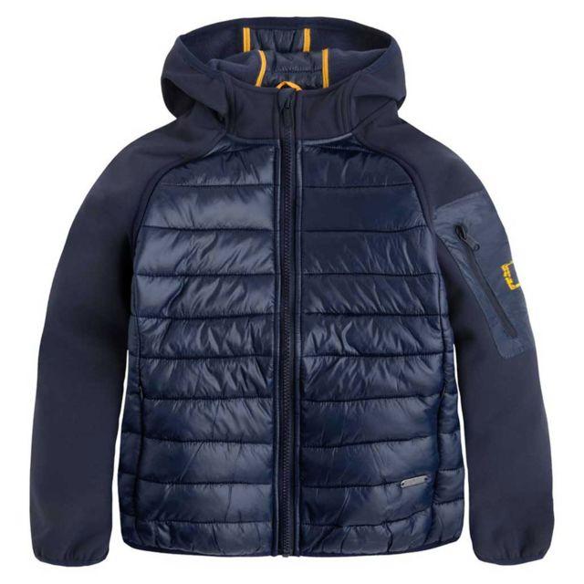 5626e8b896ea0 Pepe Jeans - Nathan Blouson Garçon - Taille 14 ans - Bleu - pas cher Achat    Vente Blouson enfant - RueDuCommerce
