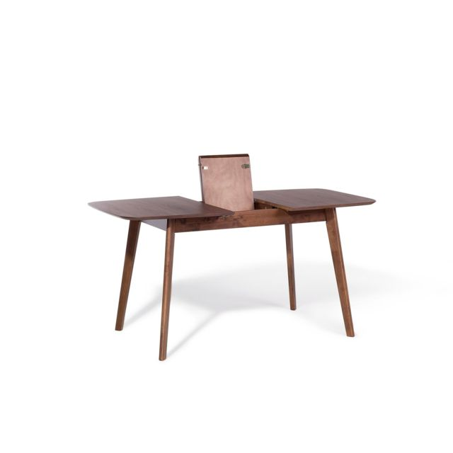 BELIANI Table de salle à manger extensible 150x75 cm marron MADOX - marron