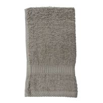 Les Douces Nuits de Maé - Serviette de toilette mastic 50x90cm 100% Coton