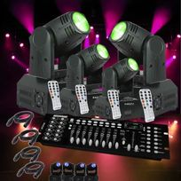 Ibiza Light - 4 Lyres Lmh 250 Led + 1 Console Dmx + Cables