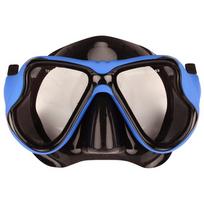 Waimea - Masque de plongée sous-marine en caoutchouc noir/bleu cobalt