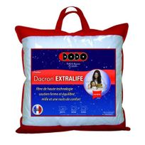 DODO - Extralife Oreiller Uni Classique Blanc 60 X 60 Cm SynthÉTIQUE Ferme