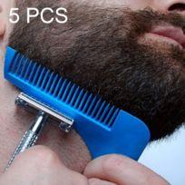 Wewoo - Tondeuse 5 Pcs L forme l'outil de formation de cheveux faciaux de Shaper de barbe avec la brosse, la livraison aléatoire de couleur