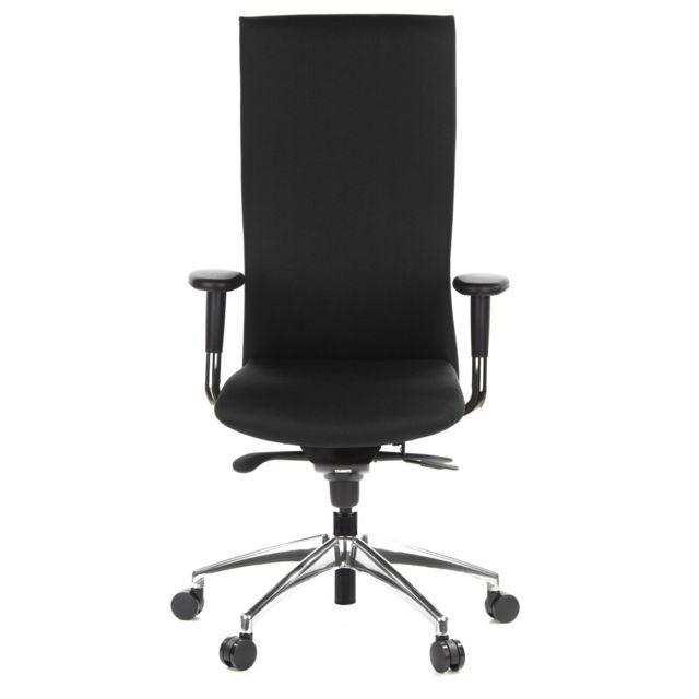 Hjh Office Siège de bureau / Fauteuil de direction Office-tec tissu noir