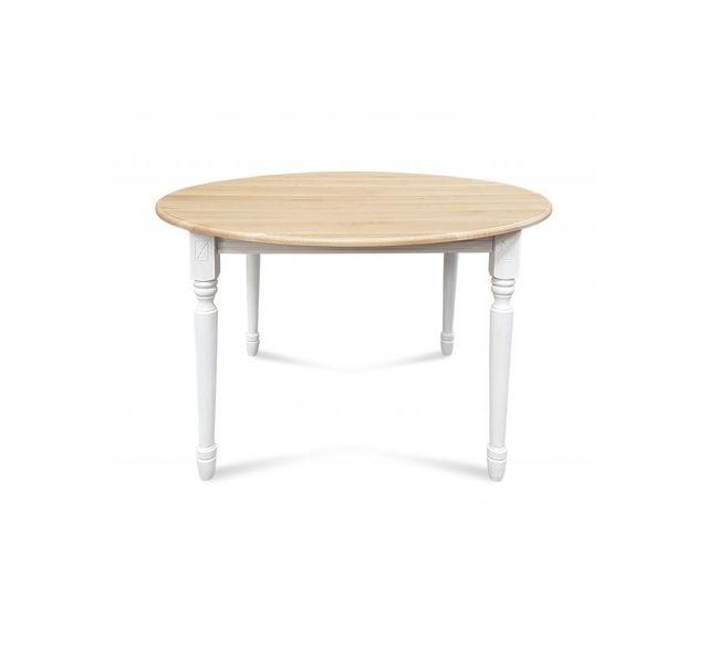 Hellin Table ronde pieds tournés Victoria - bois chêne noire délavé