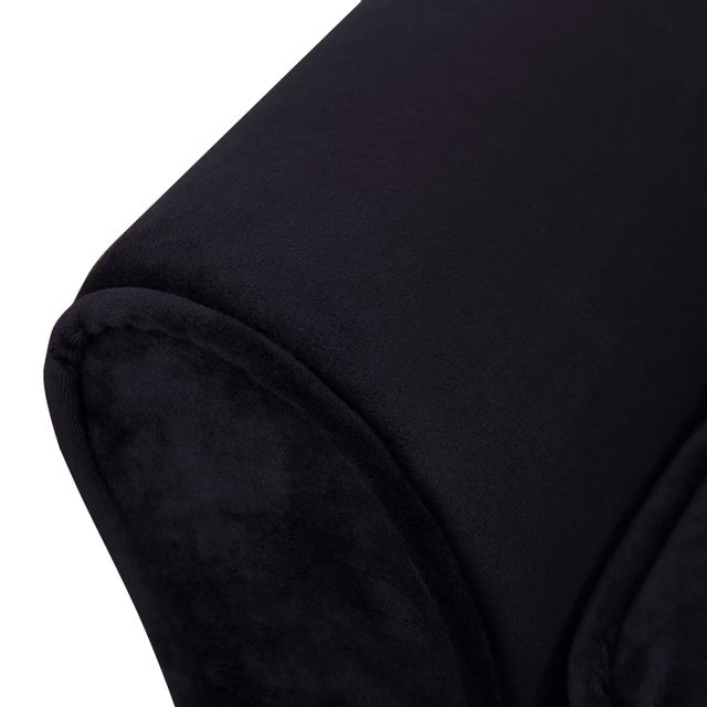 PAWHUT - Méridienne canapé design pour chien chat avec coffre de rangement sur pied 57 x 34 x 36 cm noir zébré 45