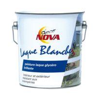 Nova - Peinture glycéro - laque blanche - brillante - 2.5 L