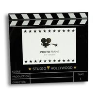 Totalcadeau - Cadre photo en forme de clap de cinéma Studio Hollywood