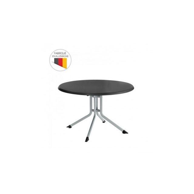 Kettler - Table de jardin pliante Advantage Ø 115 cm en aluminium ...