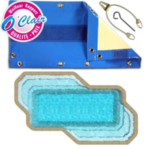 Piscine center o 39 clair b che opaque nara safe pour for Destockage piscine coque
