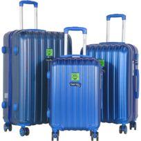 Keith Haring - Sets de 3 valises 55/65/75cm Rigides Abs à 8 Roues 360° - Andy Mouse