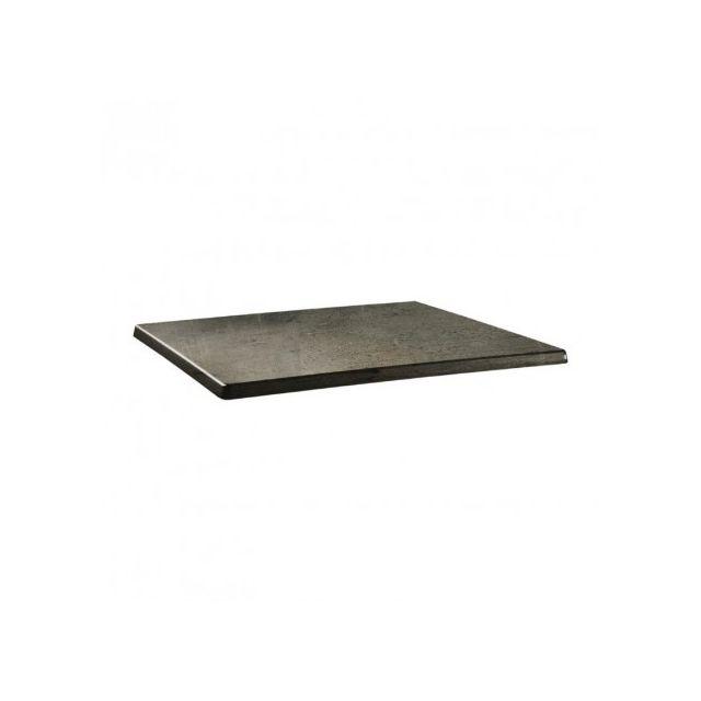 Topalit Plateau de table - 1100 x 700 mm - Line beton - Béton 1100 mm