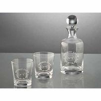Amadeus - Coffret carafe et 2 verres à wisky en verre esprit club Club